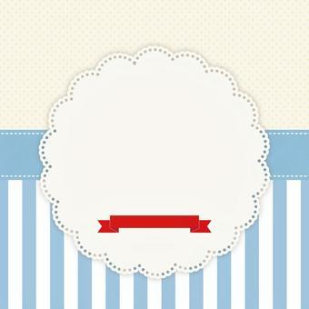 咖啡館框架米色×藍色