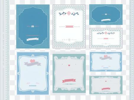 White day design card set