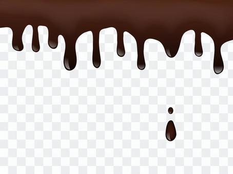 融化的巧克力