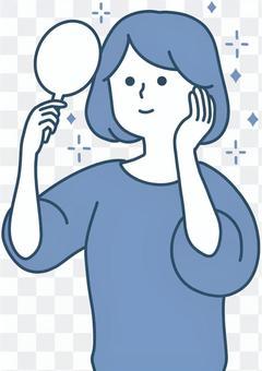 一個乾淨的設計,為那些喜歡用手放在臉頰上而高興的女性設計