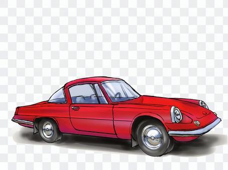 60年代歐洲紅色跑車