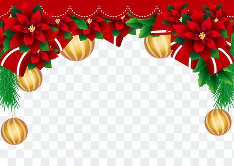 聖誕節的一品紅框架