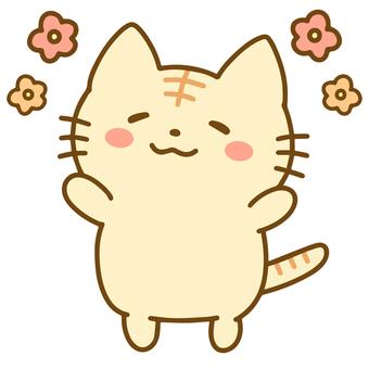 一隻看起來很放鬆的虎斑貓