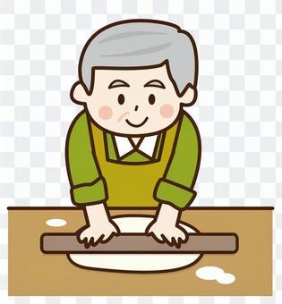 製作蕎麥麵的祖父