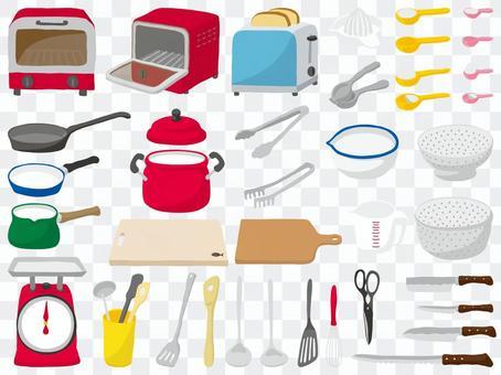 廚房工具沒有塗鴉空氣線