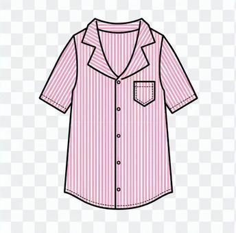 條紋粉紅色襯衫