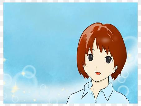 Manga refreshing youth face cute moe