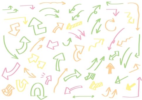 手繪標記箭頭線描集外觀