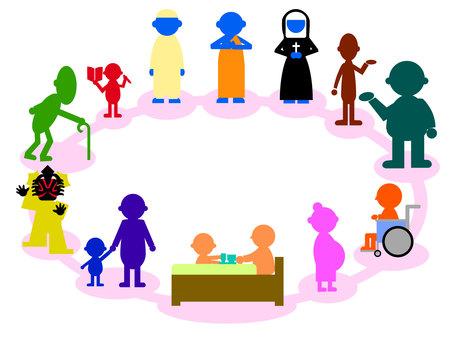 多樣性 各種生活方式 社會文化