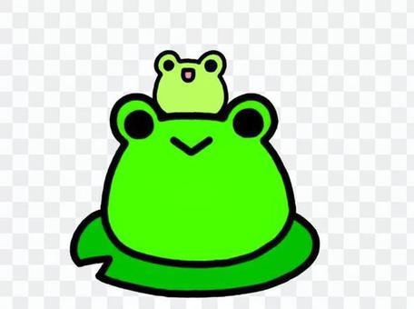 蛙の子は蛙 緑