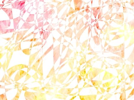 紅色和黃色的閃光漸變寶石背景