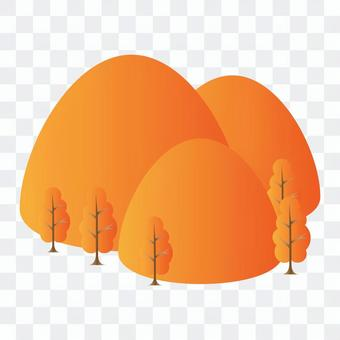 森林與橙色的紅葉