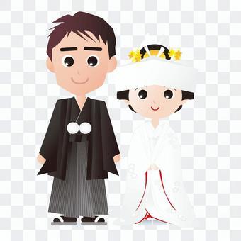 日式新娘和新郎