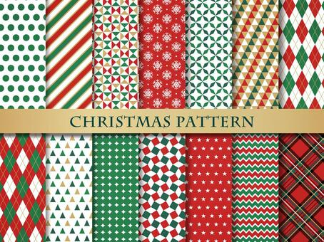 聖誕色彩無縫模式