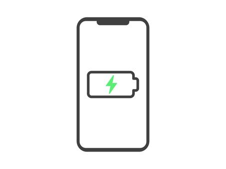 Smartphone icon charging