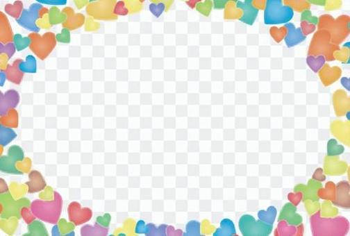 Pastel Heart postcard template