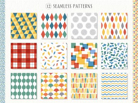 Pop geometric pattern background