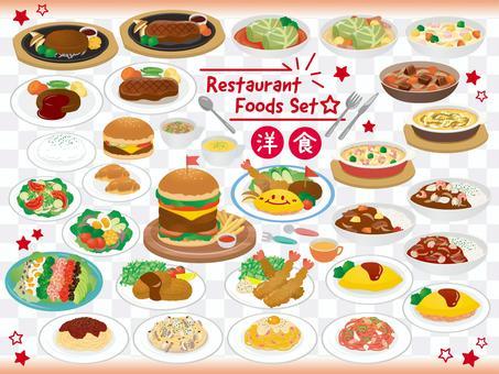 Assorted Western food