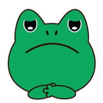 蛙-沮喪的臉