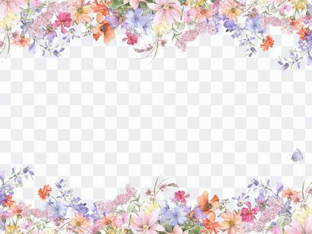 花框架159  - 各种花的花框架框架