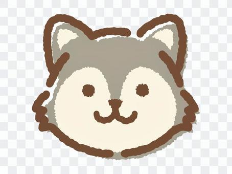 狼的臉_手繪