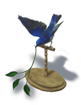 青い鳥のイラスト(背景なし)