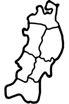 Tohoku area map white out