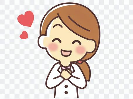 White woman wearing a heart (082)