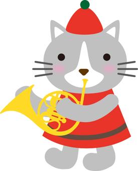 吹喇叭的貓