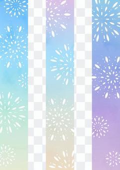 Nostalgic fireworks background 3 types _ portrait