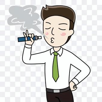 加熱煙草的插圖