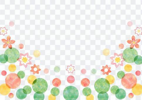 点_绿色_柔和的背景