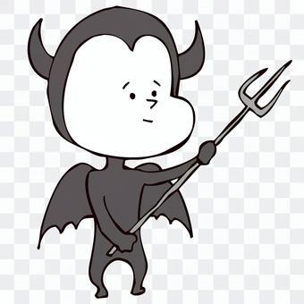 右上を刺す悪魔