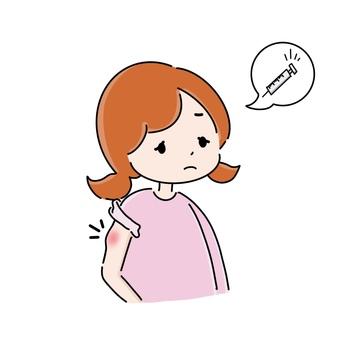 疫苗副作用 手臂疼痛 女性