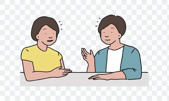 男人和女人聊天