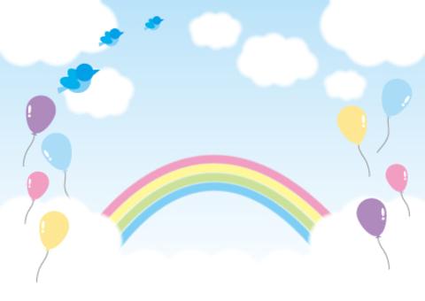 天空和氣球和雲彩