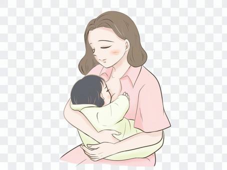 母乳喂養的媽媽