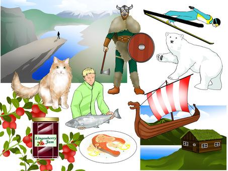 挪威圖像說明
