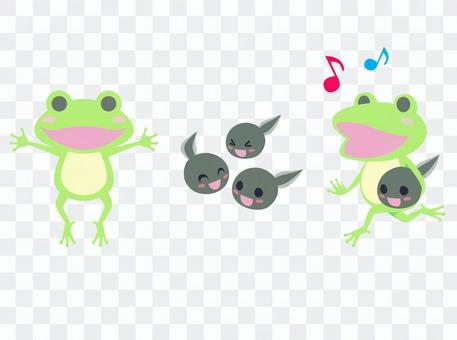 Frog and ladle