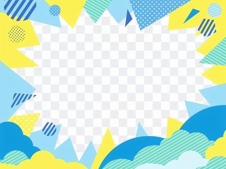 夏イメージクールカラーのポップな集中線2