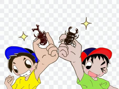 鍬蟲vs鍬蟲!