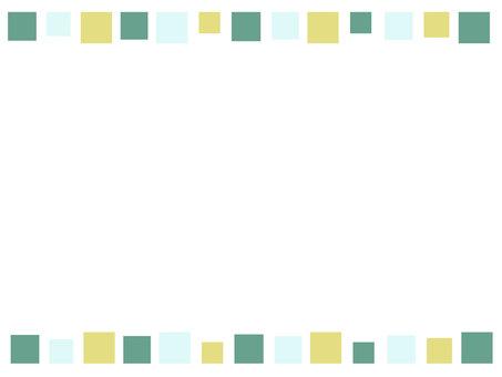 方磚線框綠色