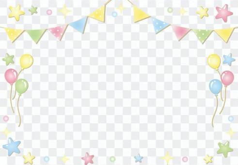 國旗星氣球框架