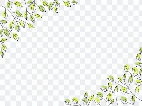 簡單清新的綠框