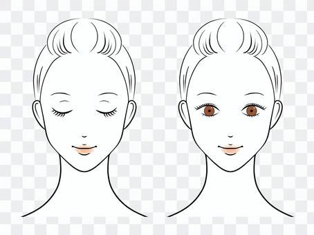 女人的臉圖