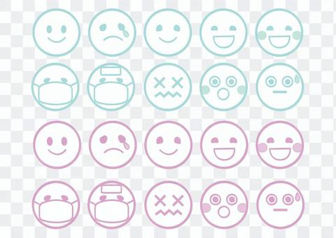 表情符號◆2種顏色◆設置