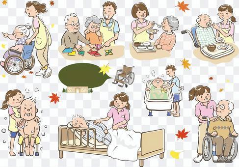 Various nursing care