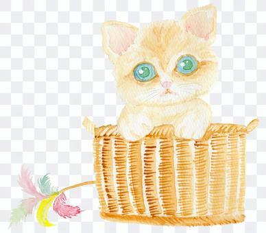 小貓手繪水彩畫