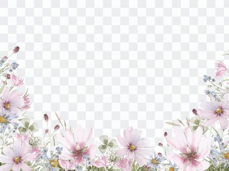 花框架121  - 宇宙,裂紋的花框架