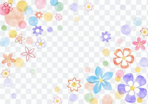 花卉图案_粉彩_框架